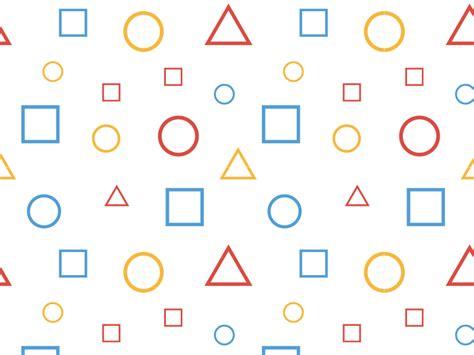patterns with basic shapes basic shape pattern by joe thomas dribbble