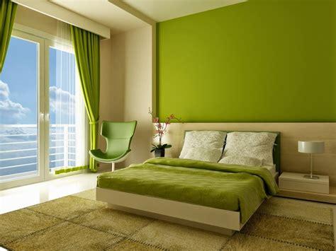 desain kamar tidur warna hijau minimalis modern