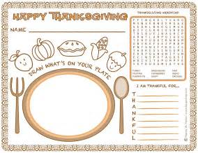 free printable thanksgiving placemats free placemat coloring pages
