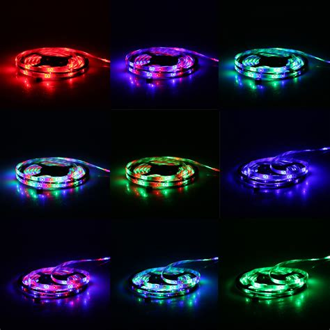 5m 16 4ft Rgb 300leds 3528 Smd Flexible Led Light Strip Multi Coloured Led Lights