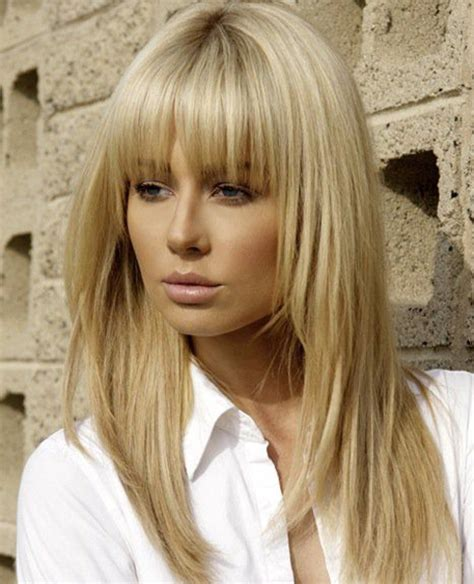 hairstyles with fringe long hair full fringe long hairstyles with blonde shades full dose