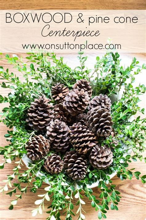 pine cone table arrangements pine cones pine and centerpieces on
