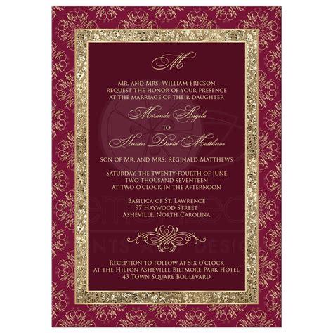 Wedding Invitation Designs Maroon