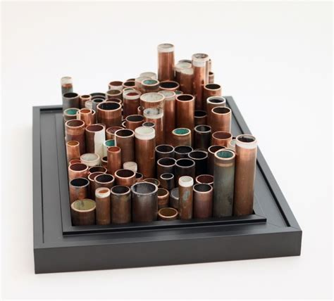 copper pipe art city of pipes framed copper pipe sculpture