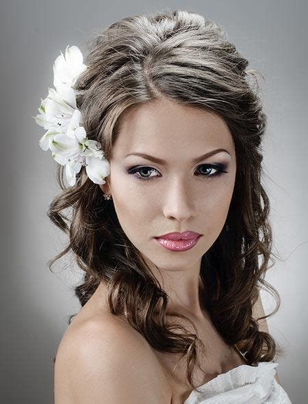 hairstyle for long face bride haircuts for long faces wedding hairstyles down best for
