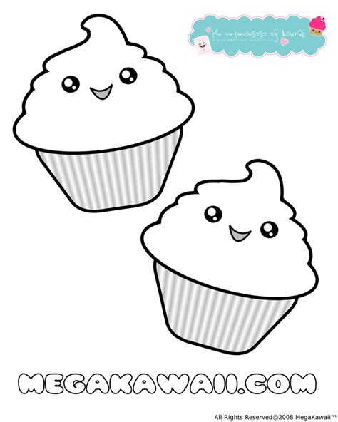 coloring pages of cute cupcakes kawaii cupcake coloring pages printable v 228 rityskuva
