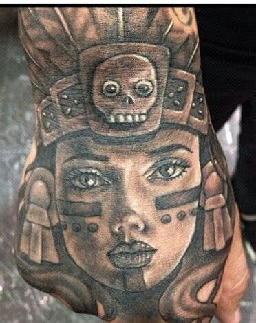 aztec princess tattoos aztec princess chicano pride