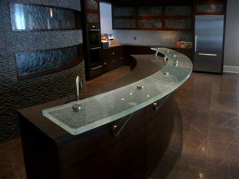 glass bar top glass bar top contemporary home bar toronto by cbd