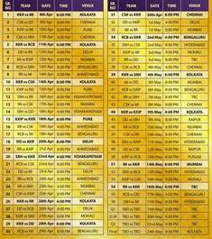 ipl l time table of ipl images