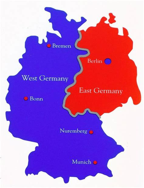 germany divided map history of berlin wall erika s cold war website