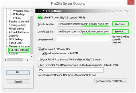 Ssl Certificate Installation Filezilla