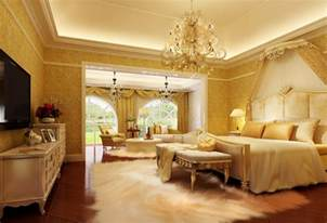 european luxury bedroom interior decoration picture
