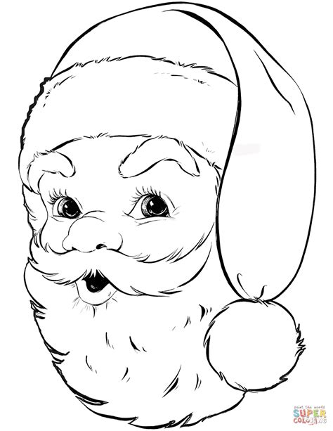santa claus coloring pages santa claus portrait coloring page free printable