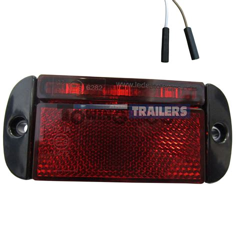 red led marker lights led autols red rear low profile harness trailer marker