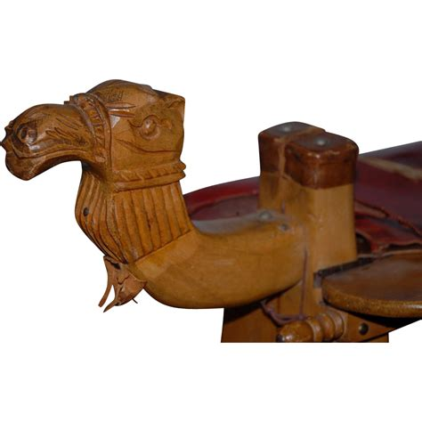 vintage carved wooden camel stool from europeantiqueshop