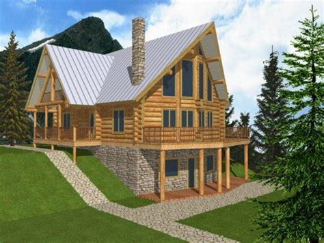 log cabin home plans with basement tiny cottage