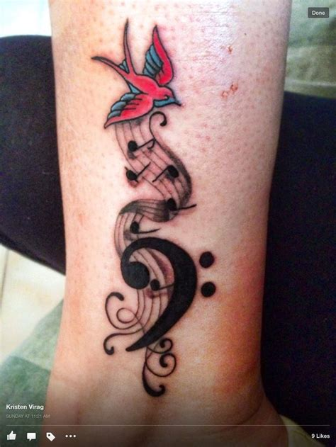 bass clef tattoos 81 best ideas images on ideas