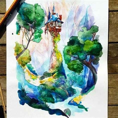 watercolor tattoo niagara 25 best ideas about tangled tower on rapunzel