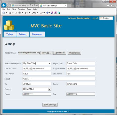 how to use layout in view in mvc mvc basic site step 3 dynamic layouts and site admin