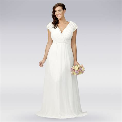 Wedding Dress Debenhams by Debut Womens Ivory Floral Applique Pleat Wedding Dress