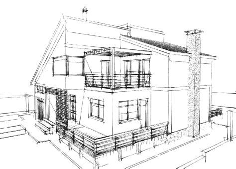 sketch a house modern house drawing sketch modern house