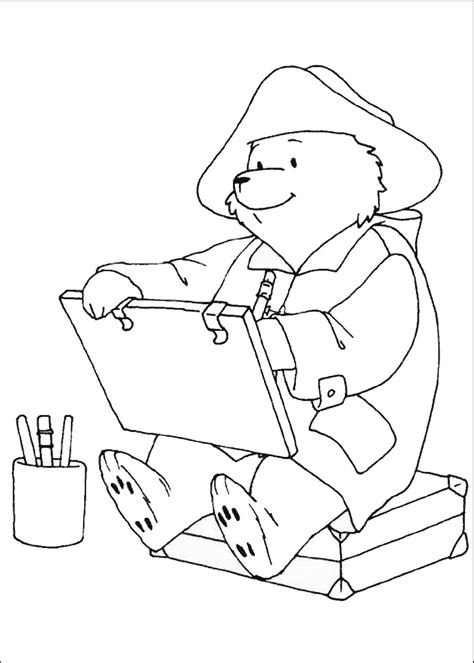 paddington bear coloring pages birthday printable