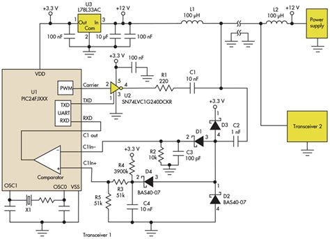 power line inductor simple circuit communicates low voltage power lines electronic design
