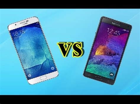Samsung A8 Vs Note 4 samsung galaxy a8 vs samsung galaxy note 4 look