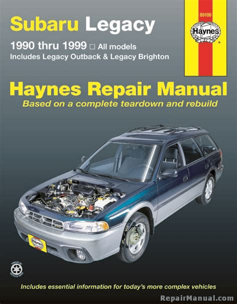 what is the best auto repair manual 1999 cadillac seville transmission control subaru legacy 1990 1999 haynes automotive repair workshop manual h89100 ebay