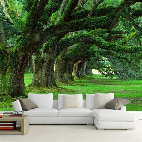 custom  wallpaper mural modern natural landscape forest