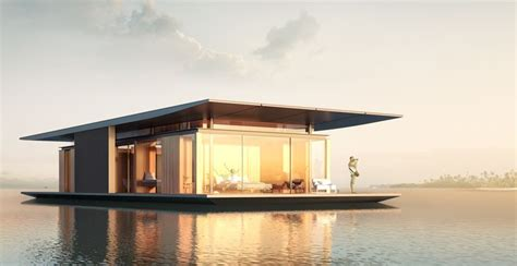 sustainable floating house concept delivers magic on water