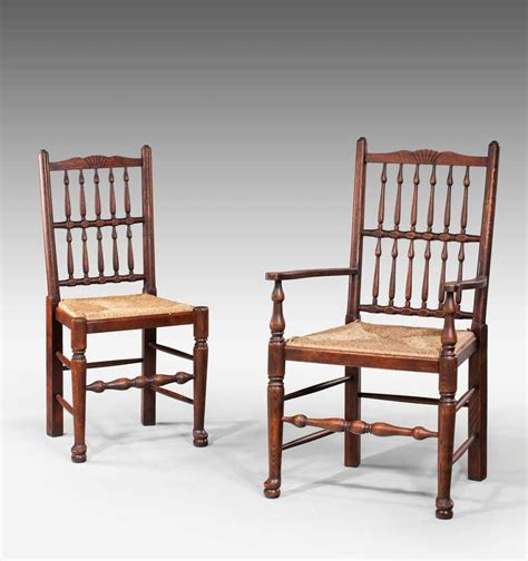 Spindle Back Dining Chair Set Of Eight Spindle Back Dining Chairs At 1stdibs