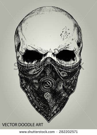 skull with bandana gangster tattoo drawings 17 best