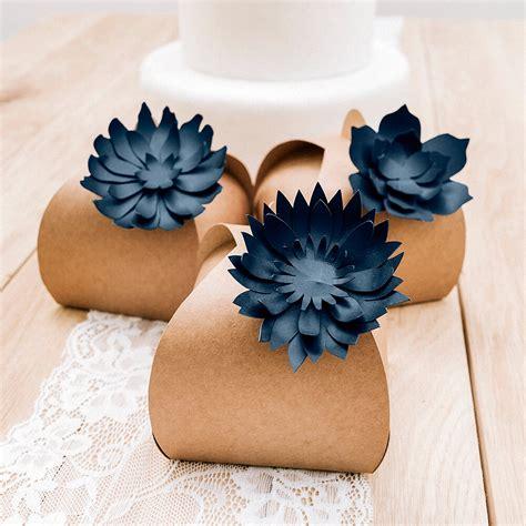 Papier Deko Hochzeit by Tischdeko Hochzeit Blumen Dunkelblau 3 St Weddix De