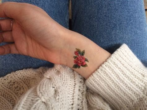 small rose tattoos on wrist small on