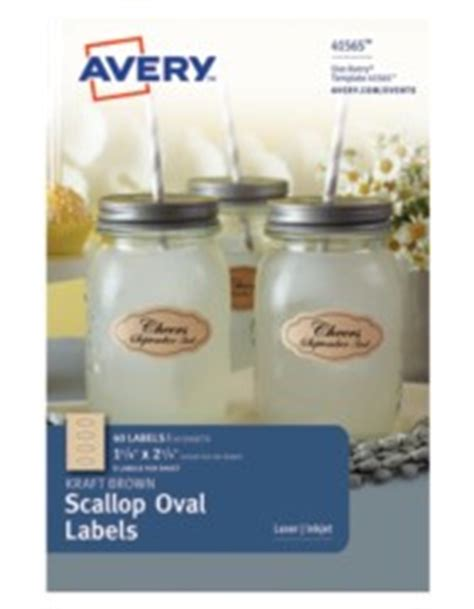 Avery Scallop Labels Template Avery Kraft Brown Scallop Oval Labels