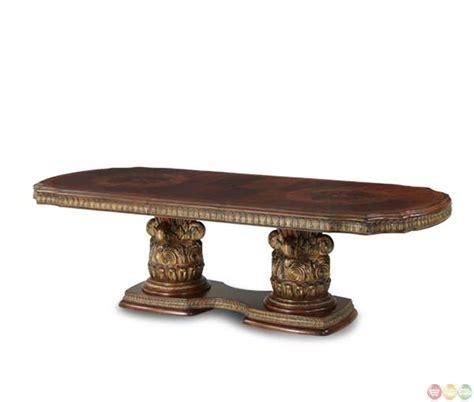 michael amini dining table michael amini villa valencia rectangular chestnut dining