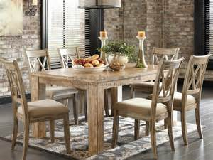 7 Pc Dining Room Set ashley d540 mestler 7 pc light rustic dining set in myrtle