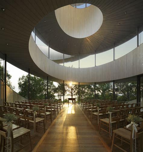 spiralling ribbon chapel designed   wedding day