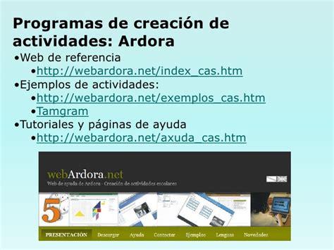 tutorial web educamadrid programas creacionactividades