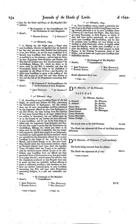 section 179 history house of lords journal volume 7 26 february 1645
