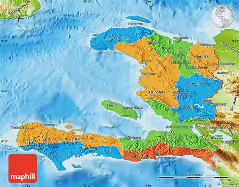 physical map of haiti political map of haiti physical outside