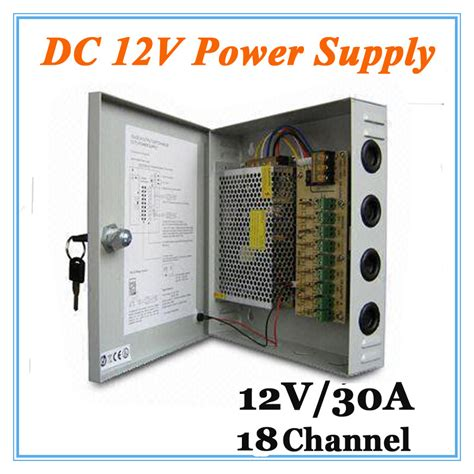 Power Supply Cctv 12v 30a Dc12v 30a 18 Channel Power Supply Adapter For Cctv