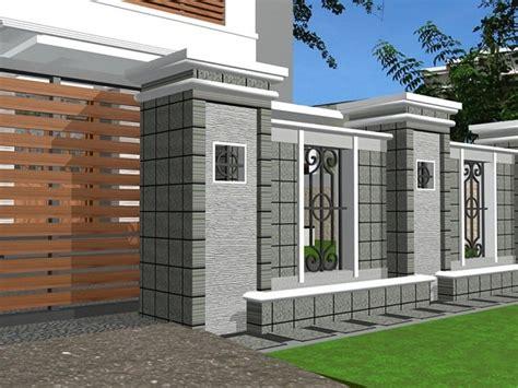 pagar merupakan unsur penting untuk teras rumah minimalis inspirasi pagar rumah minimalis kombinasi batu alam