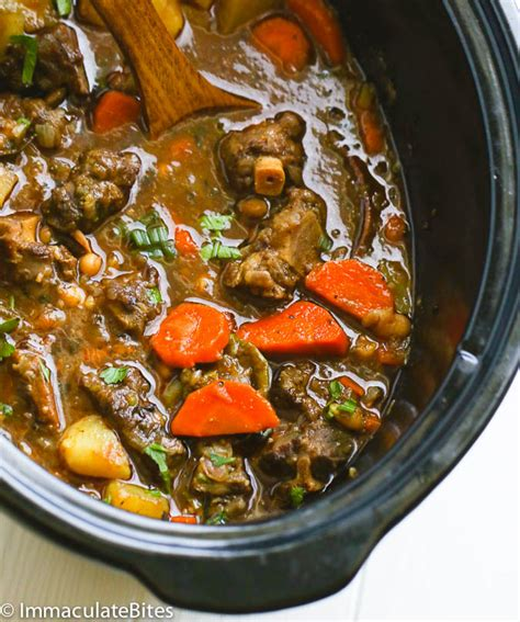 printable jamaican recipes slow cooker oxtail soup
