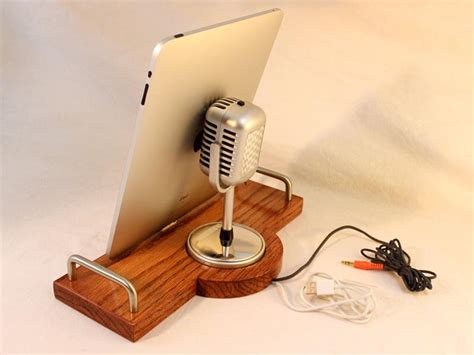 Handmade Microphone - handmade station with retro microphone for iphone