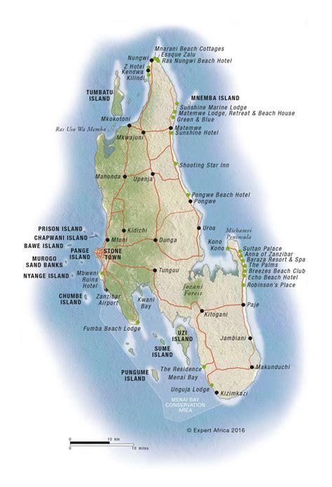 zanzibar map map of zanzibar and pemba islands tanzania