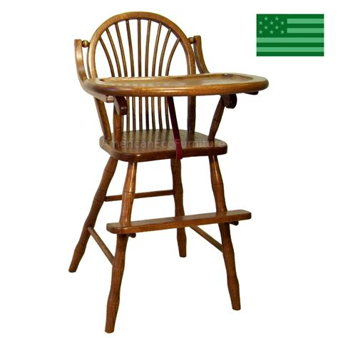 american baby high chair usa made high chairs american eco furniture