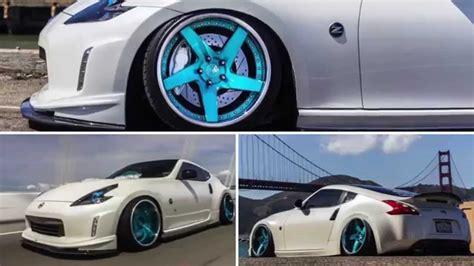 nissan 370z slammed zoey v2 0 nissan 370z accurair slammed ag wheels relax