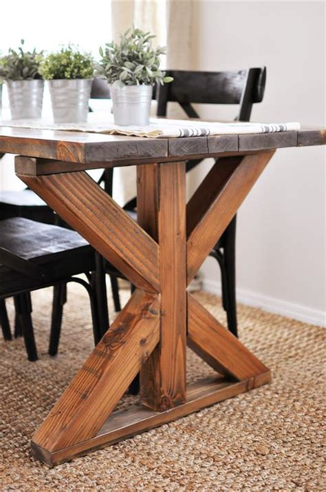 farmhouse table farmhouse x base table buildsomething